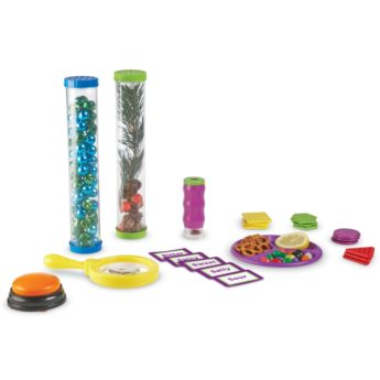 Early science and sensory play combine with the Five Senses Activity Set