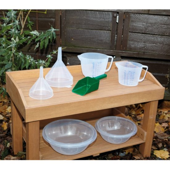 Set of 7 plastic mud kitchen resources for measuring and investigations