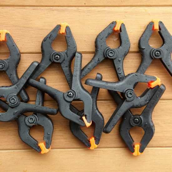Set of 10 strong clamps ideal for den-building projects