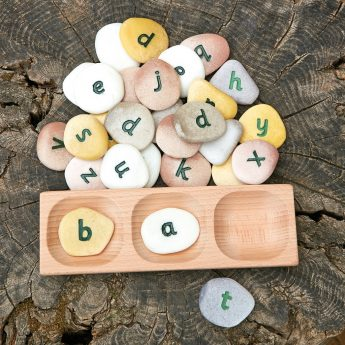 Blend and segment CVC words with this tactile wooden tray