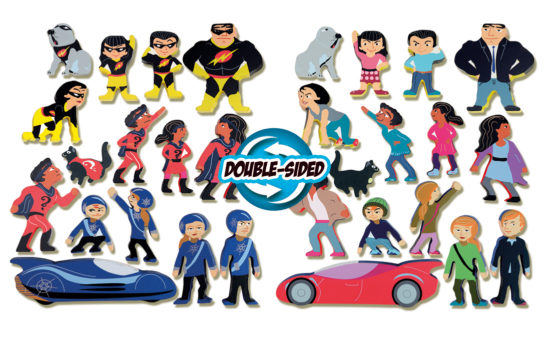 Appealing wooden superhero figures for imaginative play