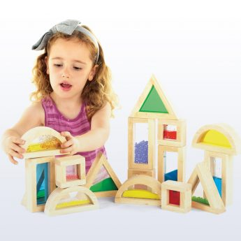 Tactile blocks for sensory play