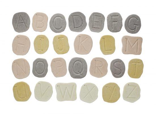 Feels-Write Uppercase Letter Stones
