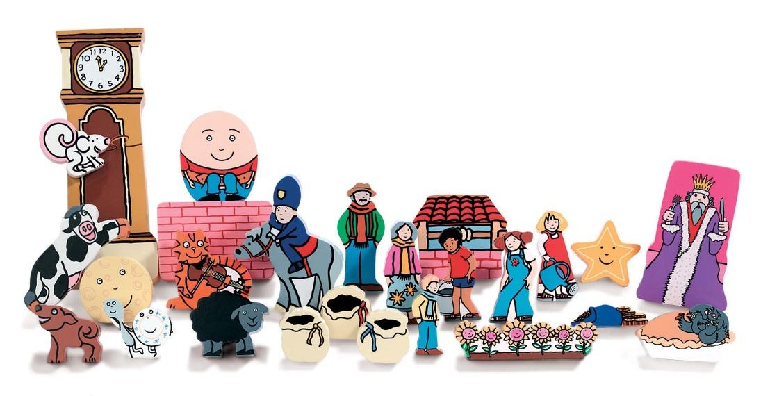 Nursery Rhymes Wooden Characters