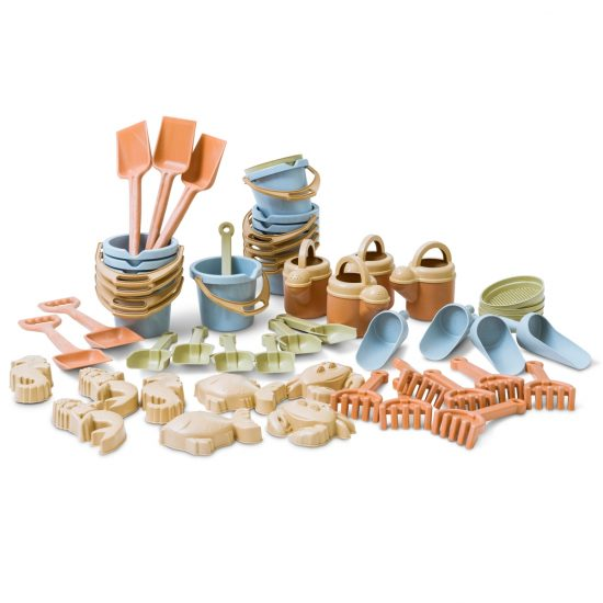 50-piece bumper sand play set made from bioplastic