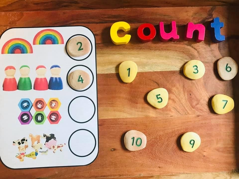 Count 5 objects