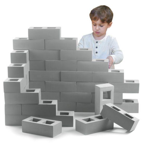 Set of 20 foam construction blocks