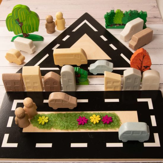 Set of 4 road layouts each a different shape