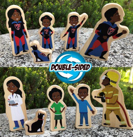 Superhero Wooden Characters
