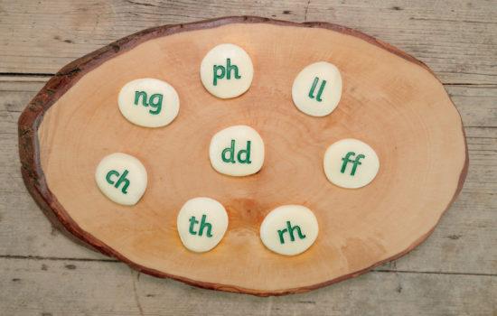 Welsh Alphabet Pebbles